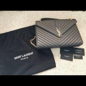 YSL large envelope bag
